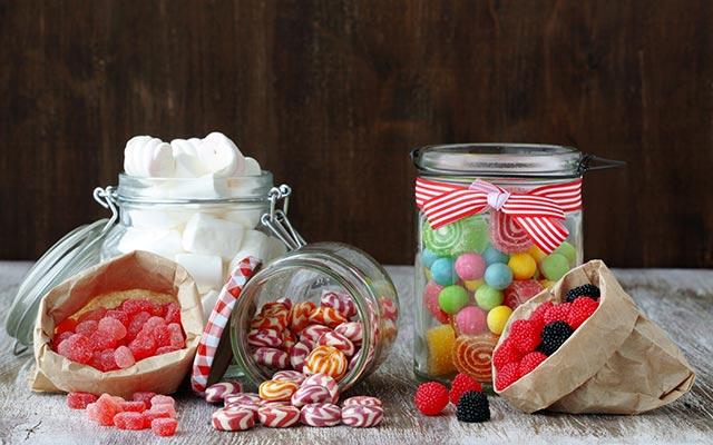 конфеты в банке